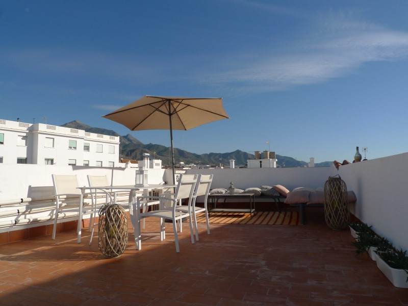 4BR Fantastic top floor apartment with private roof terrace in the old town in Nerja